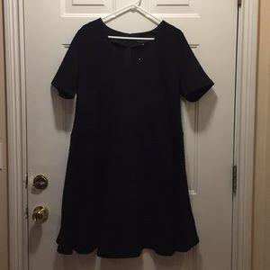 Eloquii Textured V-Neck Fit & Flare Dress Size 16